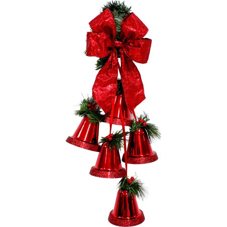 holiday time christmas decor 145 5pk bells gold indoor outdoor use - Walmart Christmas Decorations Indoor