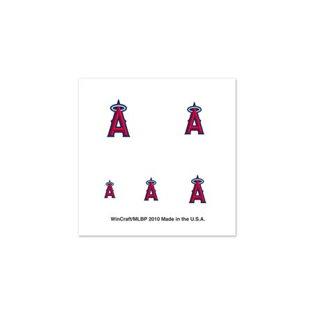 Los Angeles Angels Official MLB 1 inch x 1 inch  Fingernail Tattoo Set by WinCraft (Baseball Tattoos)