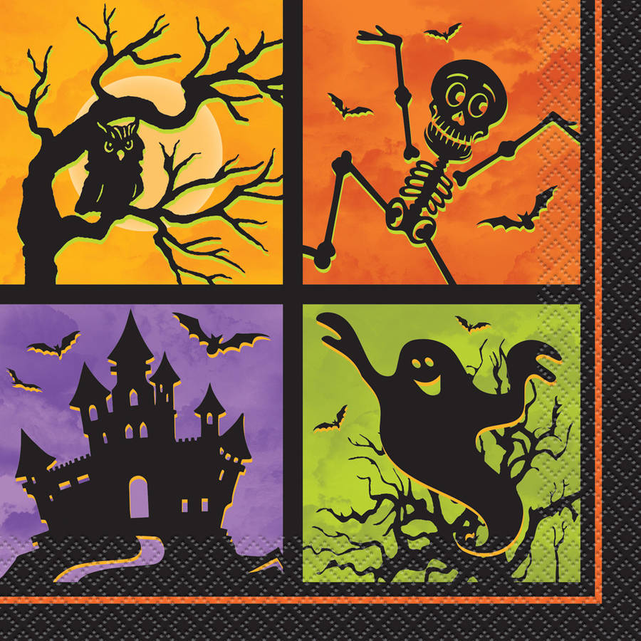 Haunted House Halloween Luncheon Napkins, 20-Count