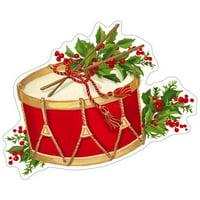 Christmas Gift Tags 4pk Musical Christmas Concert Ornament