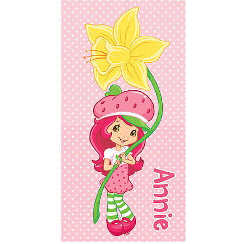 Personalized Strawberry Shortcake Perfect Petal Pose Beach Towel