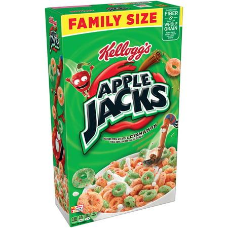 (3 pack) Kellogg's Apple Jacks Breakfast Cereal, Apples & Cinnamon, 19.4 Oz