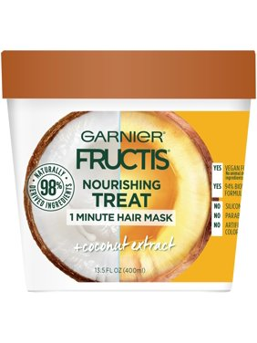 Garnier Fructis 1 Minute Mask with Coconut Extract, 13.5 fl oz