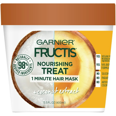 Garnier Fructis 1 Minute Mask with Coconut Extract, 13.5 fl (Best Hair Mask For Hair Loss)