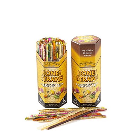 Honey Acres 100 HONEY STIX (Sticks, Straws) - 100% Pure Raw Honey, Assorted Flavors, 500g - Kosher