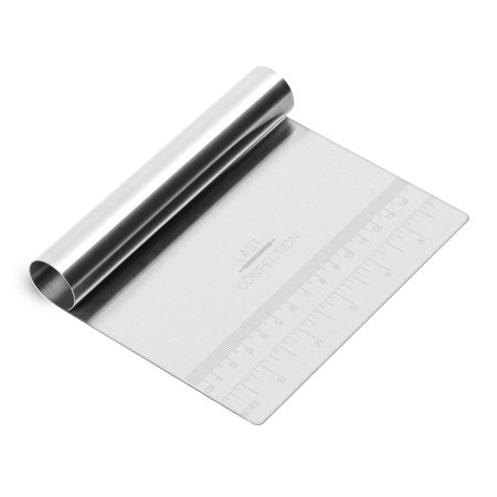 Bench Cookie (Last Confection Pastry Bench Scraper - Dough Cutter Divider for Pizza, Pasta, Cakes & Cookies - Professional Food Grade Stainless Steel Scrape)