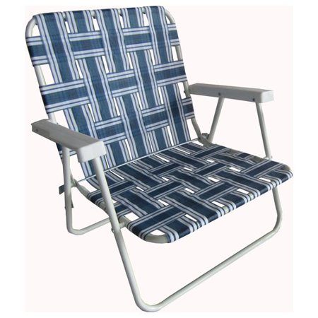 Mainstays Beach Height Web Chair Blue Stripe Walmart Com