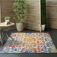 Nourison Aloha Indoor-outdoor Damask Multicolor Area Rug