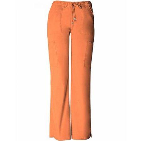 HeartSoul Scrubs Womens Charmed Low Rise Cargo Pant, Orange Pop, XXLarge Petite (Heartsoul Scrubs)