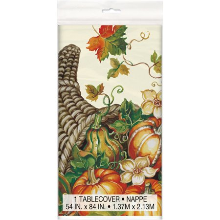 (2 pack) Harvest Pumpkins Fall Plastic Tablecloth, 84 x 54 in, 1ct](Halloween Table Clothes)