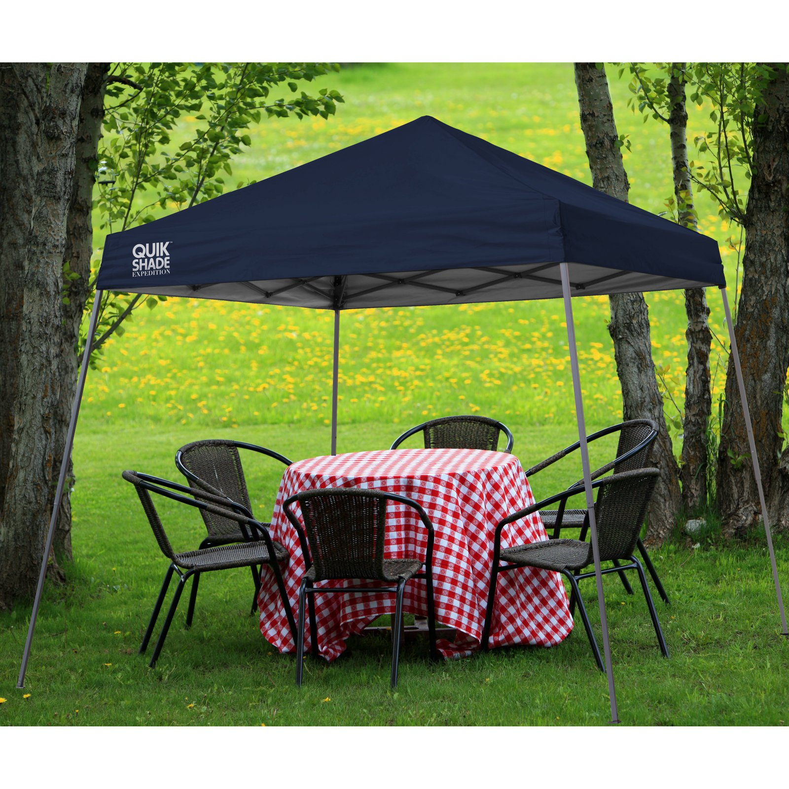 quik shade expedition 10x10 slant leg instant canopy 64 sq ft coverage walmartcom - U Shape Canopy 2015