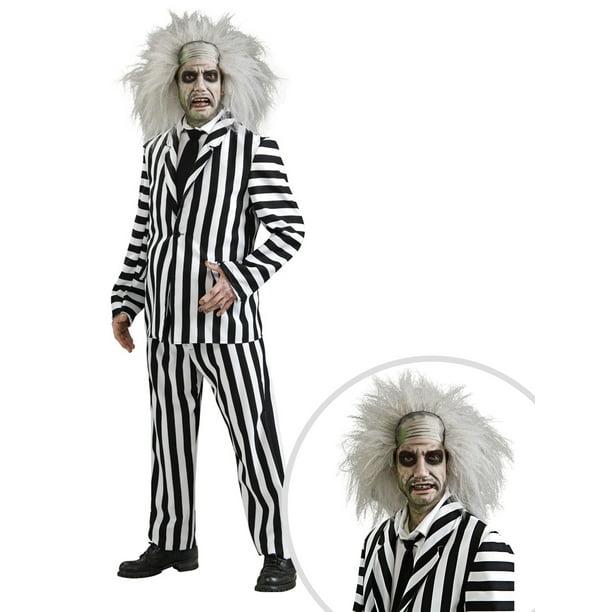 Men S Deluxe Beetlejuice Costume And Beetlejuice Wig For Women Walmart Com Walmart Com