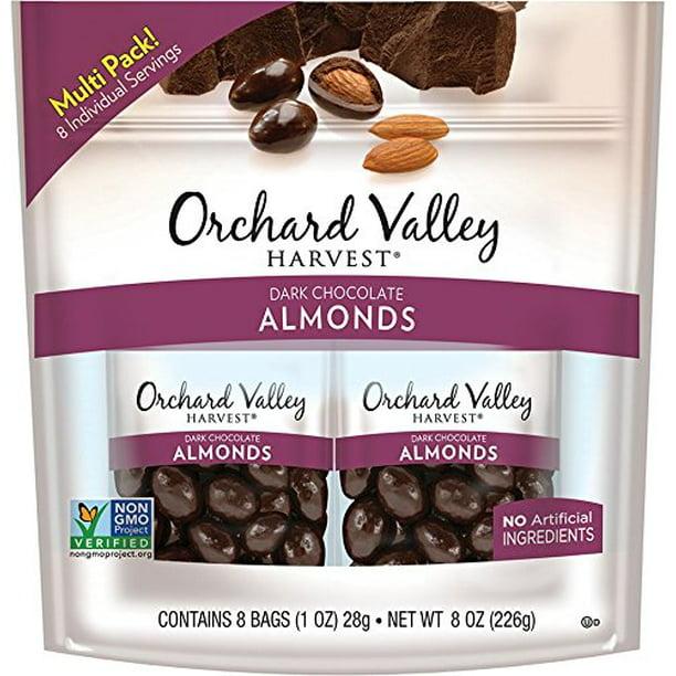 Orchard Valley Harvest Dark Chocolate Almonds 8-1 oz Bags - Walmart.com -  Walmart.com