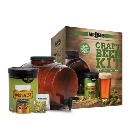 Mr. Beer Northwest Pale Ale Craft Beer Making Kit with Convenient 2 Gallon Fermenter Designed for Simple and Efficient