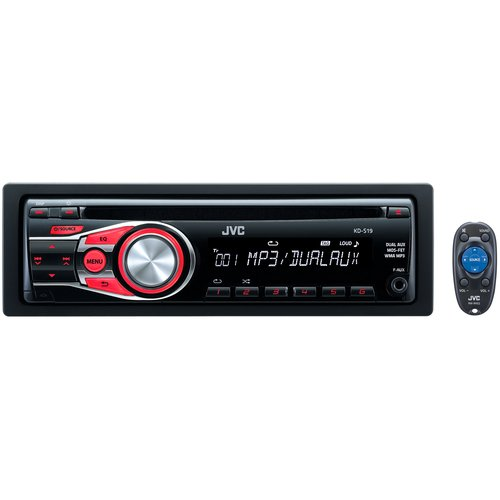 JVC KDS19 Mobile Audio CD Receiver with Dual Auxiliary Ports