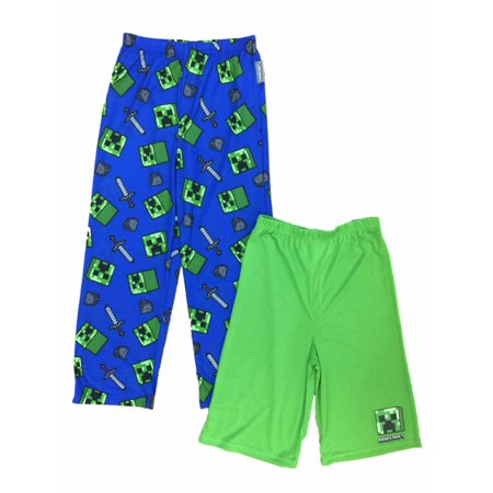 Boys Minecraft Pajama Bottoms Lounge Pants & Sleep Shorts Set Mine Craft](Mime Robe)