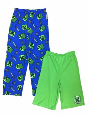 852e20a90 Product Image Boys Minecraft Pajama Bottoms Lounge Pants & Sleep Shorts Set  Mine Craft
