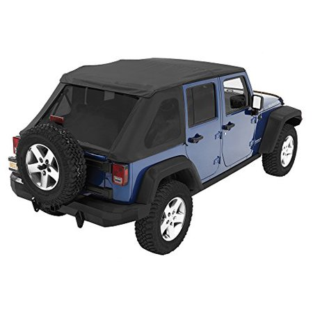 Bestop® 56823-35 Black Diamond Trektop NX Complete Frameless Replacement Soft Top with with Sunrider® Sunroof Feature
