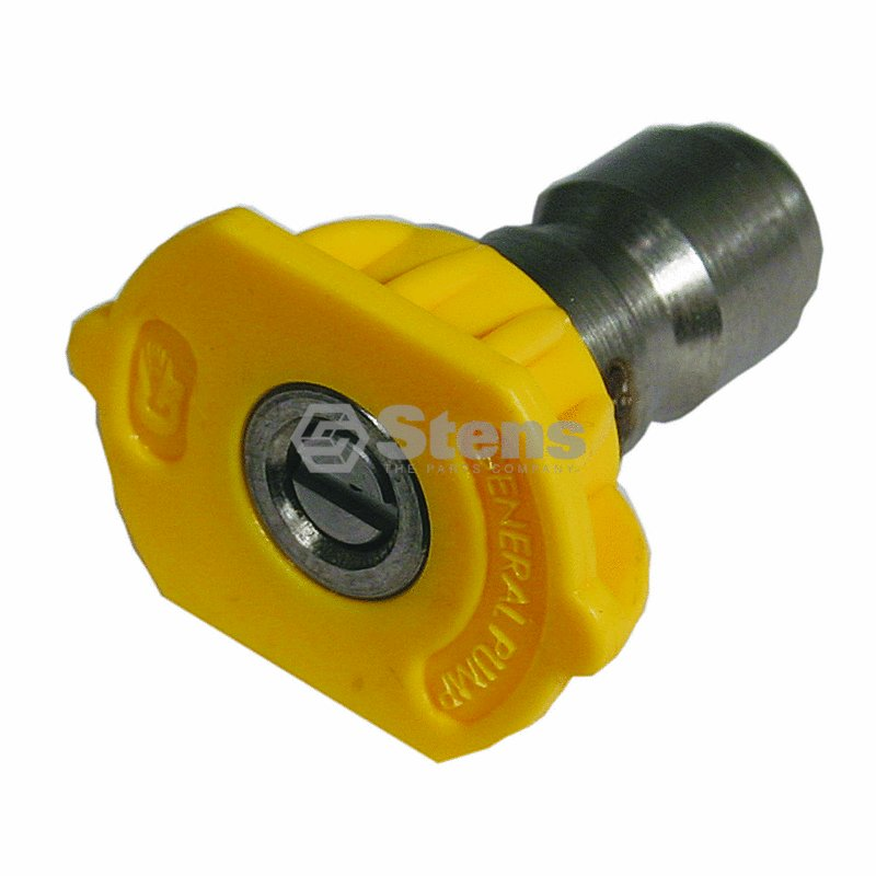 """15 Degree, Size 4.5, Yellow 1/4"""" Quick Coupler Nozzle / Stens 758-323"""