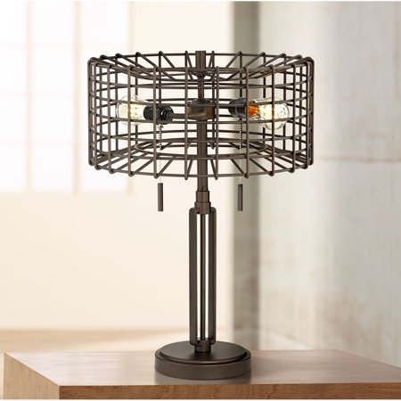 Franklin Iron Works Industrial Accent Table Lamp Led