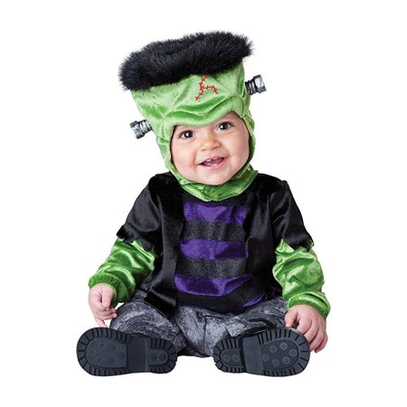 Halloween Costumes Boo From Monsters Inc (InCharacter Costumes Baby's Monster-Boo Costume, Black/Green/Purple,)