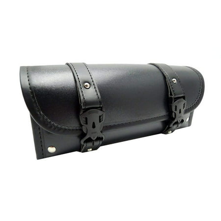 Motorcycle Fork Bag Handlebar Leather Tool Pouch Roll Barrel Bags for Yamaha Honda Kawasaki
