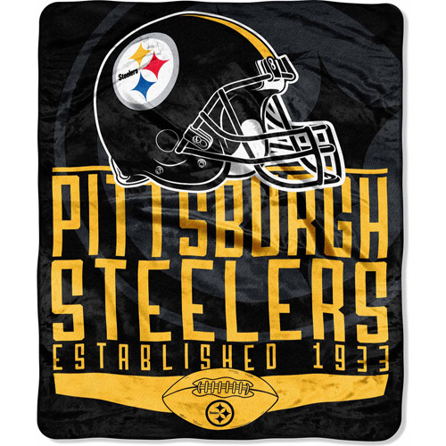 "NFL Franchise Series 55"" x 70"" Silk Touch Throw, Steelers"