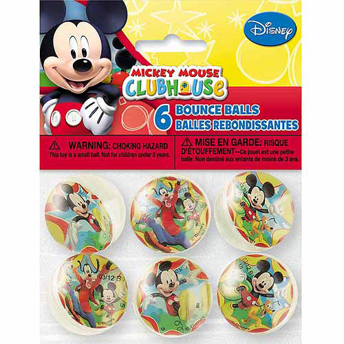 Mickey Mouse Clubhouse Bouncy Ball Party Favors, 6ct