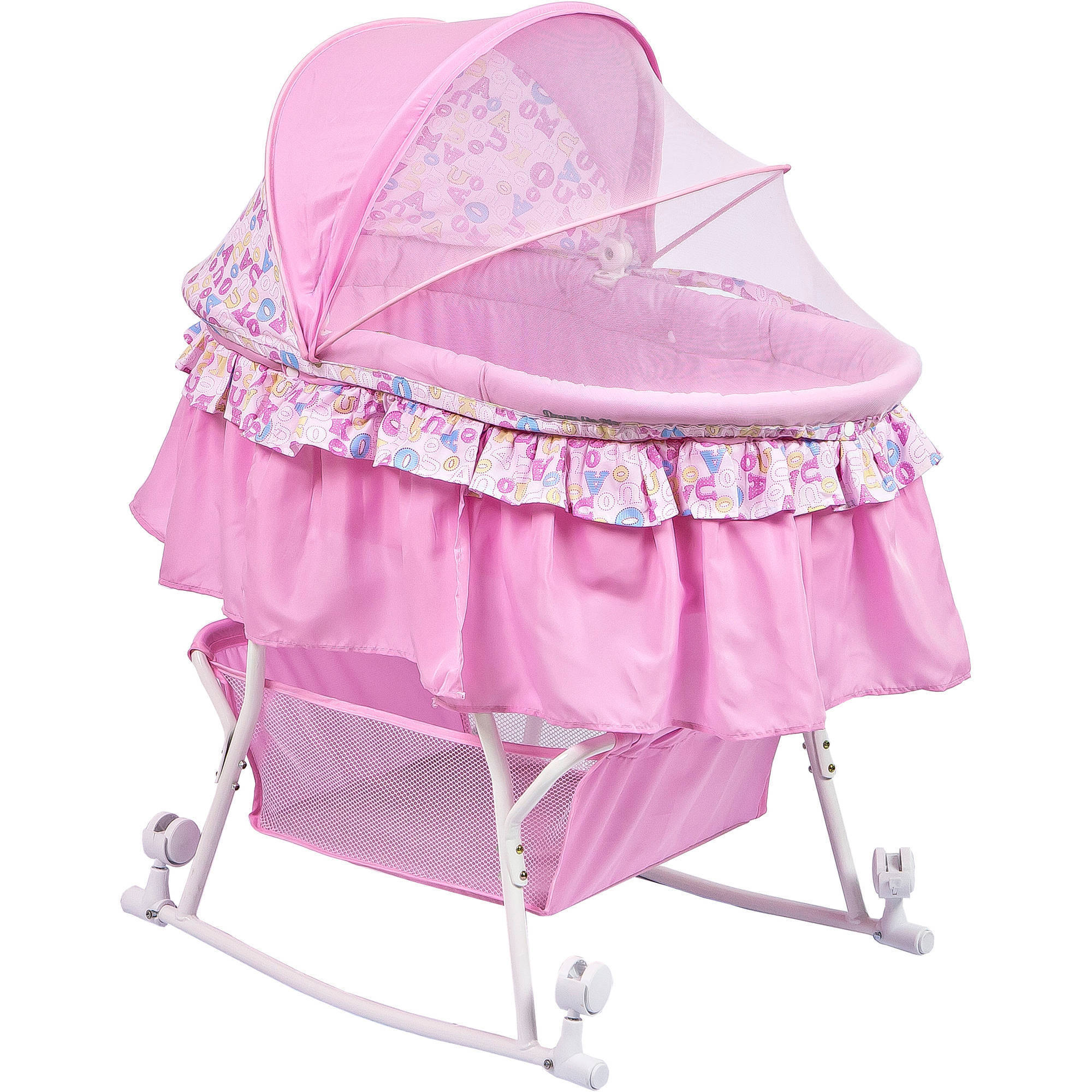 Dream On Me Lacy Portable 2-in-1 Bassinet and Cradle