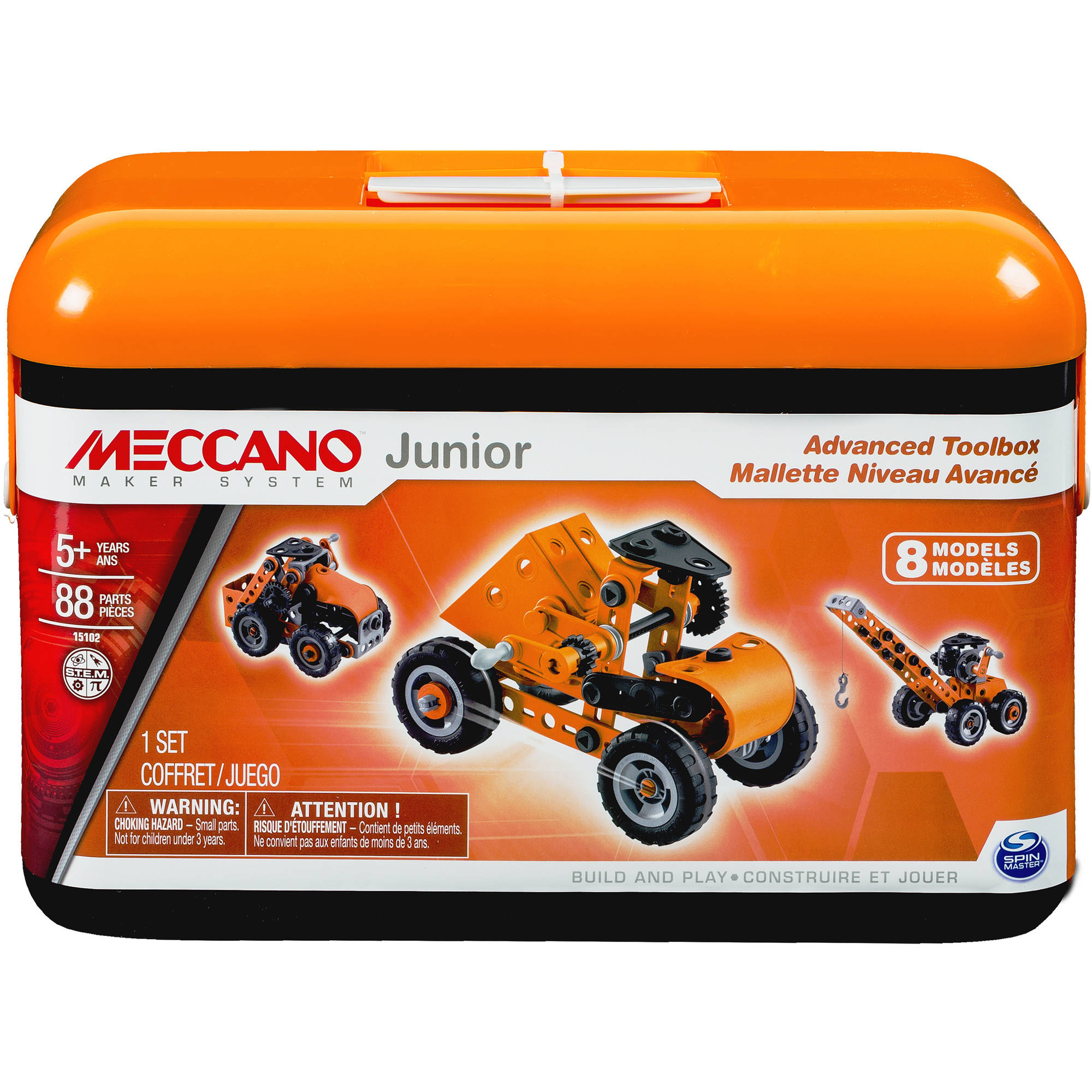 Meccano Junior Advanced Toolbox, 8 Model Kit