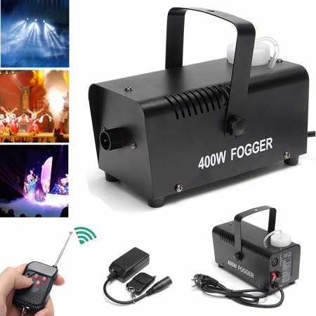 Fog Smoke Machine- 400W 0.5L Led Wireless Smoke Machine Dj Disco Laser Light Club Christmas Wedding Party Pub Stage Effect with Remote Controller