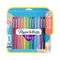 Paper Mate Flair Felt Tip Pen Set, 0.7mm, 12-Colors