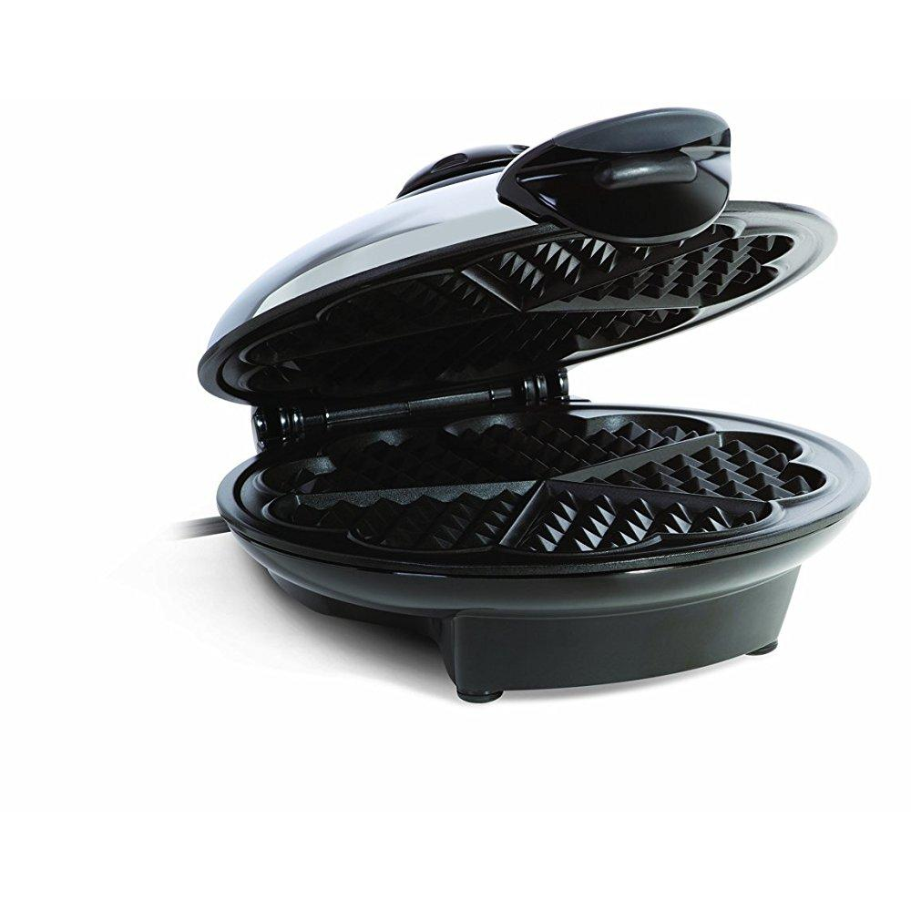 euro cuisine wm520 eco friendly heart shaped waffle maker - ptfe and pfoa free non stick plates