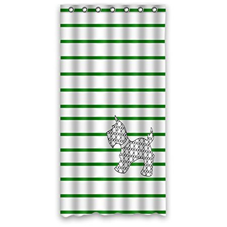 HelloDecor Scottie Dogs Shower Curtain Polyester Fabric Bathroom Decorative Curtain Size 36x72 Inches