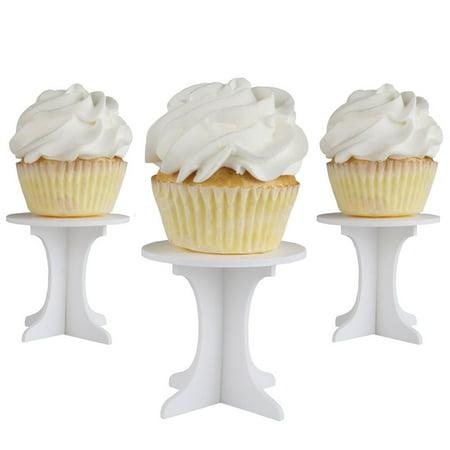 Mini Cupcake Pedestals - Individual Cupcake Stands - Set of 10 - Mini Cupcake Stand
