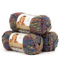 Lion Brand Yarn Vanna's Choice, 3-Pack, 100 Percent Acrylic, Multiple Colors