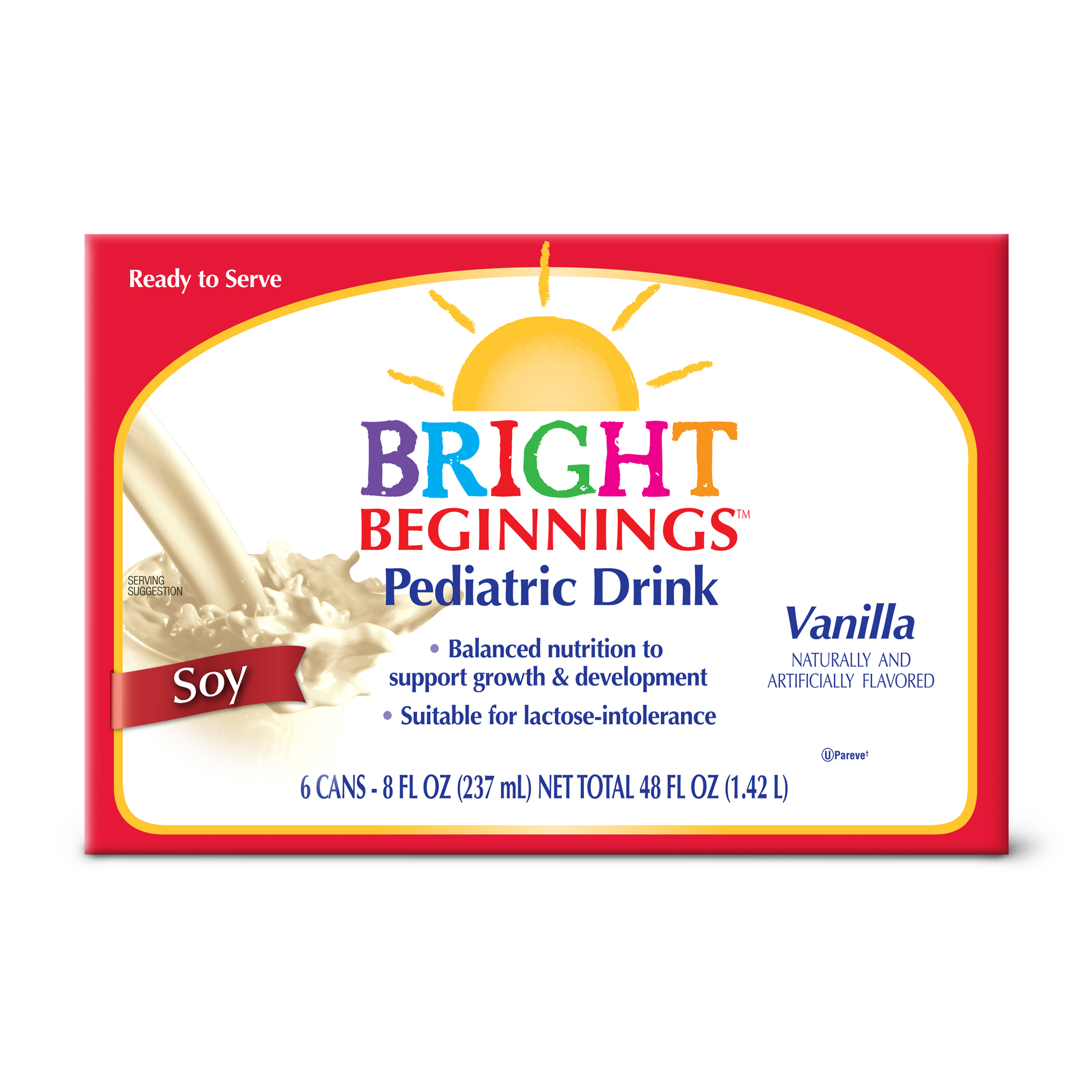 Bright Beginnings Vanilla Soy Pediatric Drink, 8 fl oz, 6 ct