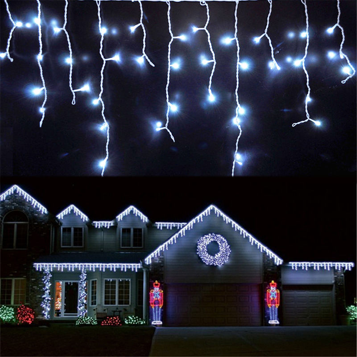 300 LED Curtain Fairy Lights USB String Hanging Wall ...