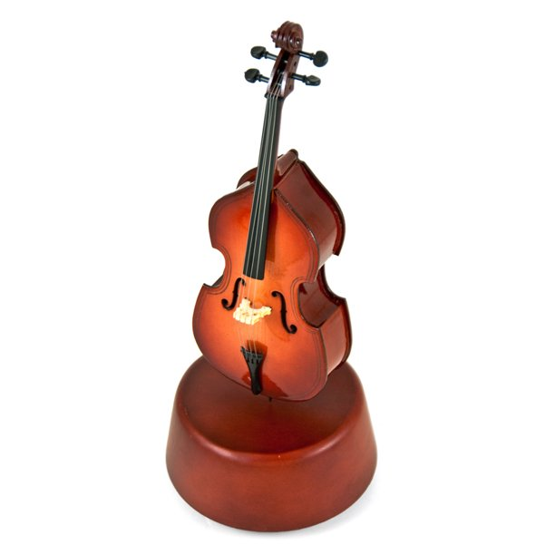 Prestigious 18 Note Miniature Classical Cello With Rotating Musical Base - Nutcracker Suite