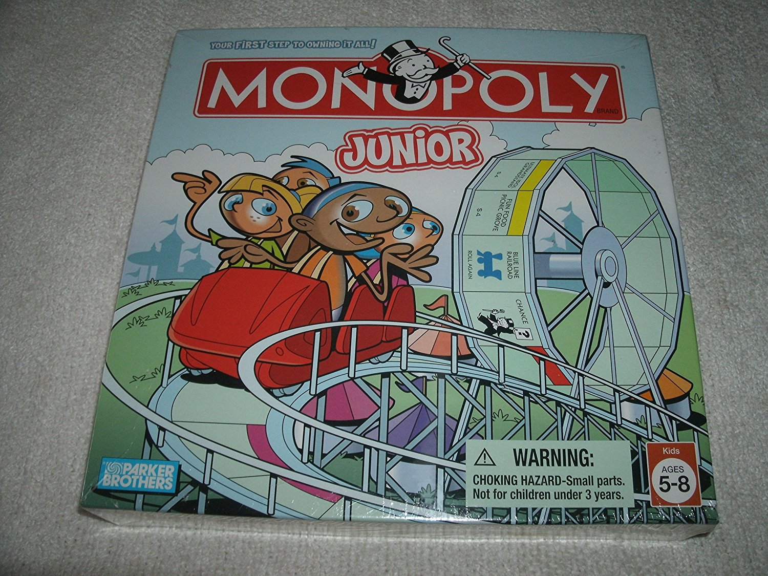 Monopoly Jr, Own your own amusement park attractions! By Hasbro by