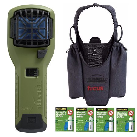 Thermacell Repeller Appliance (Olive) with Holster (Grey) and Refill Pack