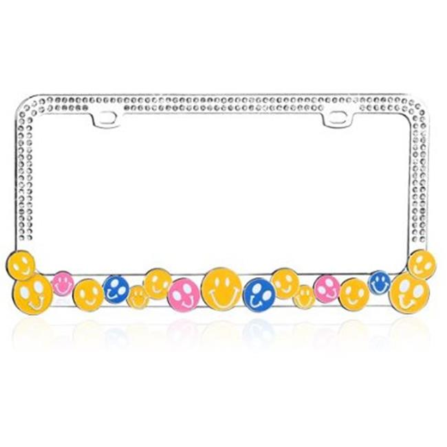 Valor LPF2MC015WIT Charming Multi-Colored Happy Face With Dazzling White Crystals Metal Frame
