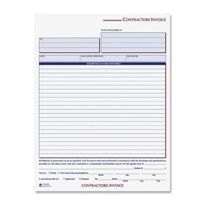 Cardinal Contractor's Invoice Book ABFTC8122 by