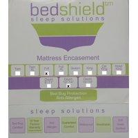 """BedShield Sleep Solutions Mattress Encasement, Full Size Depth 12""""-14"""""""