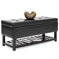 Product Image Best Choice Products Tufted Pu Leather Storage Ottoman Stool Seat Bench W Safety Hinges