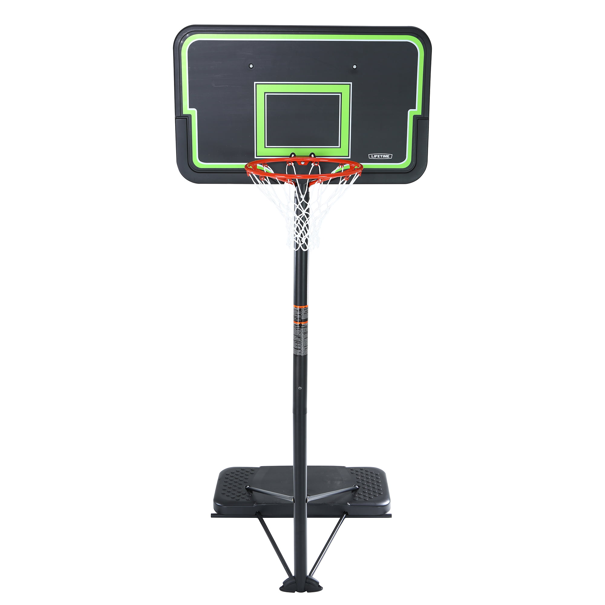 Lifetime 44 Impact Portable Adj Height Basketball Hoop 90670 Dimensions Diagram