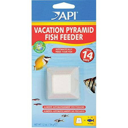 Vacation pyramid fish feeder 14 day 1 2 ounce automatic for Automatic fish feeder walmart