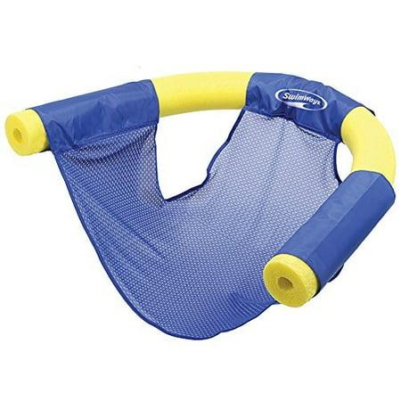 swimways floating pool noodle sling chair mesh water seat (blue)](Pool Noodle Storage)