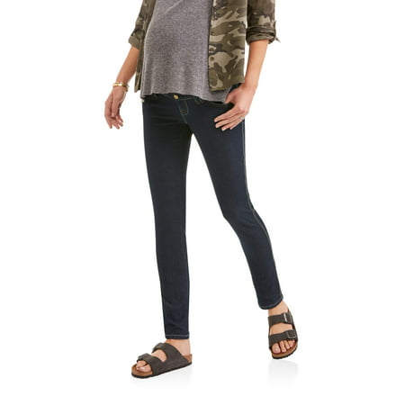 - Oh Mamma Maternity Full Panel Stretch Skinny Jeans with Belt Loops