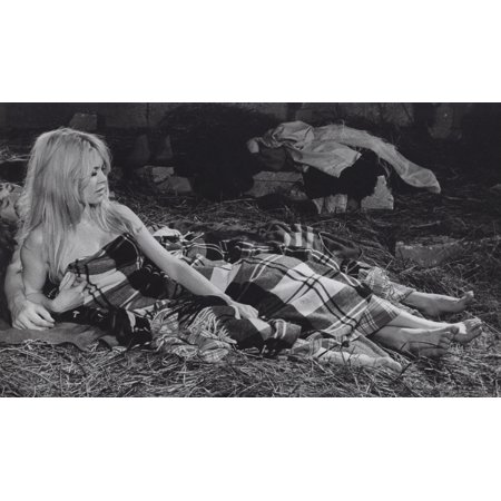 Film still featuring Brigitte Bardot lying down in a barn Photo Print](Halloween Film Barn)